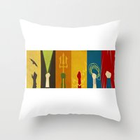 justice Throw Pillows featuring Justice by Danny Haas