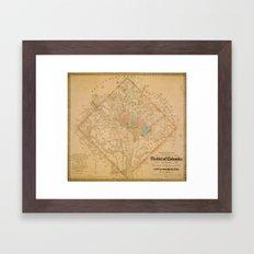 Civil War Washington D.C. Map Framed Art Print
