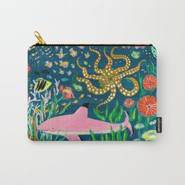 Pink Shark Carry-All Pouch
