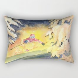 Skiing Art Rectangular Pillow