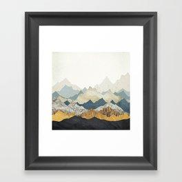 Distant Peaks Framed Art Print