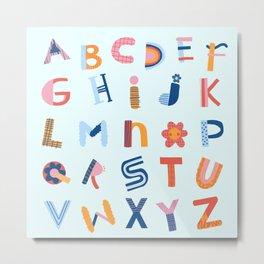 Cute Alphabet Metal Print