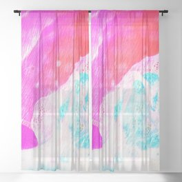 Tahiti Tropical Summer Beach Dream Sheer Curtain
