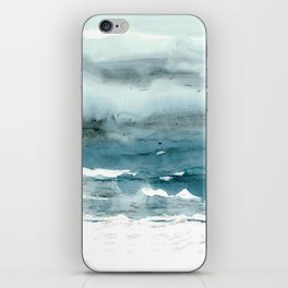 dissolving blues iPhone Skin