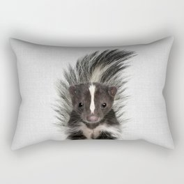 Skunk - Colorful Rectangular Pillow