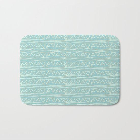 Blue Scribbles Pattern 05 Bath Mat