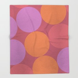 Sunset Shadows Moon Throw Blanket