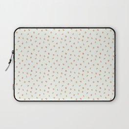 Sweet Peach Polka Dot, Mint Laptop Sleeve