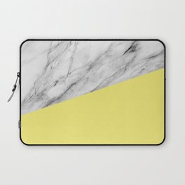 Marble and Yellow Color Laptop Sleeve