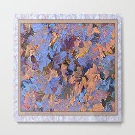 MAGIC THIMBLEBERRY ORANGE AND BLUE Metal Print