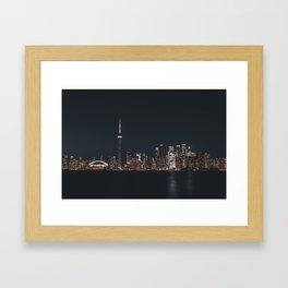 Silver Toronto Framed Art Print