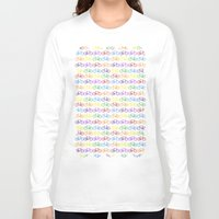 bicycles Long Sleeve T-shirts featuring Colorful Bicycles by GoldTarget