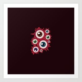 Bloody eyeballs Art Print