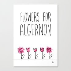 Daniel Keyes: Flowers for Algernon Canvas Print