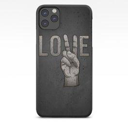 Peace Love iPhone Case