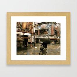 Osaka in the Rain Framed Art Print