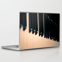 piano Laptop & iPad Skins featuring piano by noirblanc777
