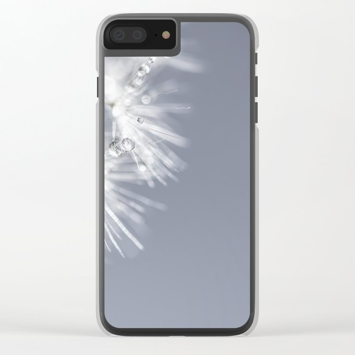 Sparkling dandelion with droplets - Flower water Clear iPhone Case