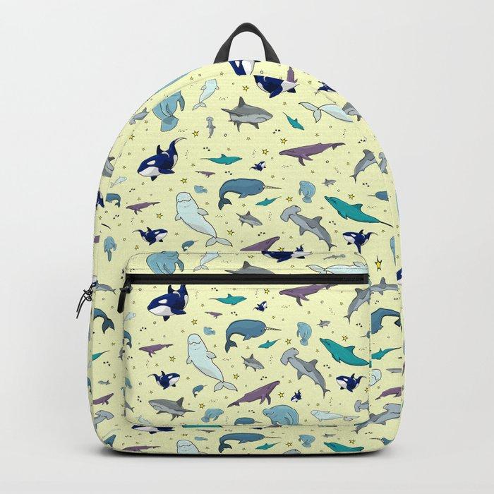 Ocean Life Pattern Rucksack