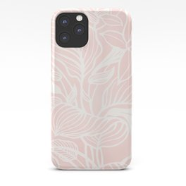 Blush Pink Coral Floral Garden iPhone Case
