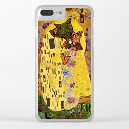 Kiss Klimt Cats Clear iPhone Case