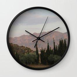 Simmering Sierra Wall Clock
