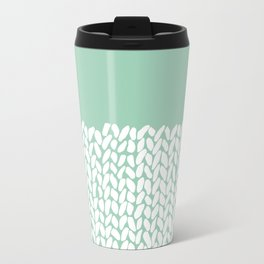 Half Knit Mint Metal Travel Mug
