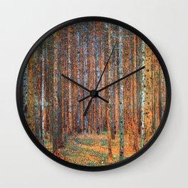 Tannenwald Gustav Klimt Wall Clock