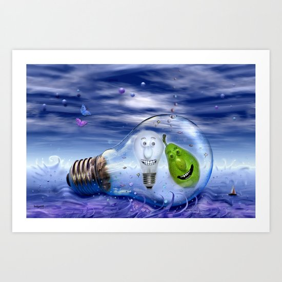 The perfect couple to dive Art Print