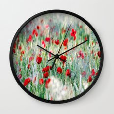 Summer Love, Poppy meadow Wall Clock