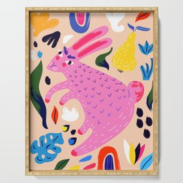Pink Bunny Serving Tray