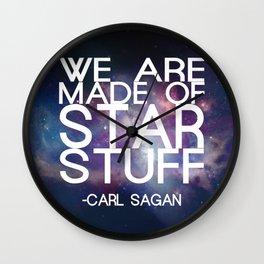 Carl Sagan Quote - Star Stuff Wall Clock