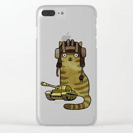 Battle Trooper Cat Clear iPhone Case