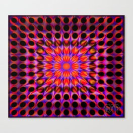Warp Flow #1 Psychedelic Optical Illusion Trippy Moving Zooming Design Canvas Print