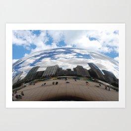 Through Cloud Gate Art Print