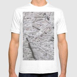 Snow laden trees T-shirt