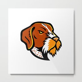 German Wirehaired Pointer Mascot Metal Print