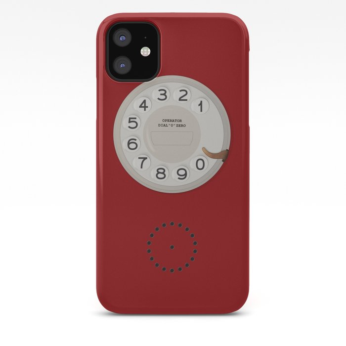Vintage Dial Phone Red iPhone Case