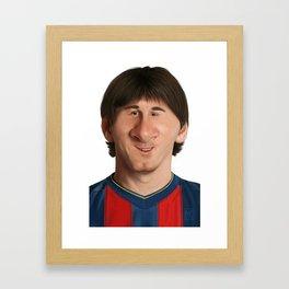 Caricature of Lionel Messi Framed Art Print