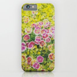 pink & chartreuse | double exposure iPhone Case