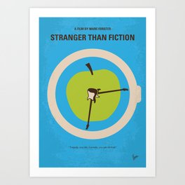 No868 My Stranger than fiction minimal movie poster Art Print