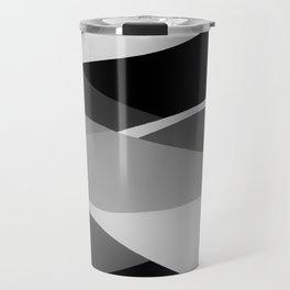 Gray and Pewter Waves Travel Mug