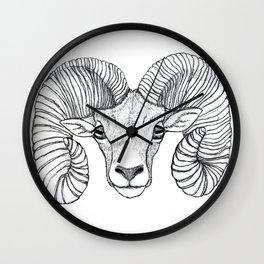 Ram Head Wall Clock