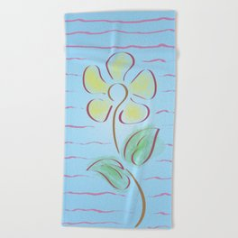Sunflower for Wabi Sabi Imperfection Beach Towel