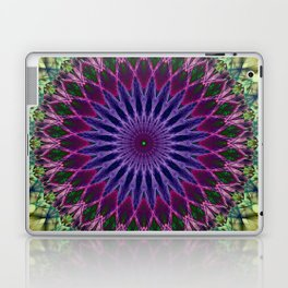 Colorful mandala with blue and pink petals ornament Laptop & iPad Skin