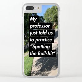 Wise Words from UC Davis Clear iPhone Case