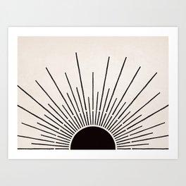 Sun #5 Black Art Print