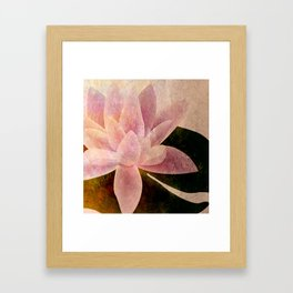 Lotus of my Heart Framed Art Print