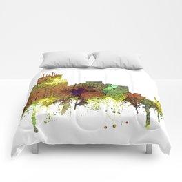 Durham, NC Skyline SG - Safari Buff Comforters