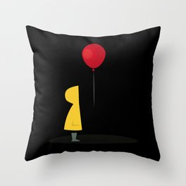 Red Balloon for 1 Penny Throw Pillow